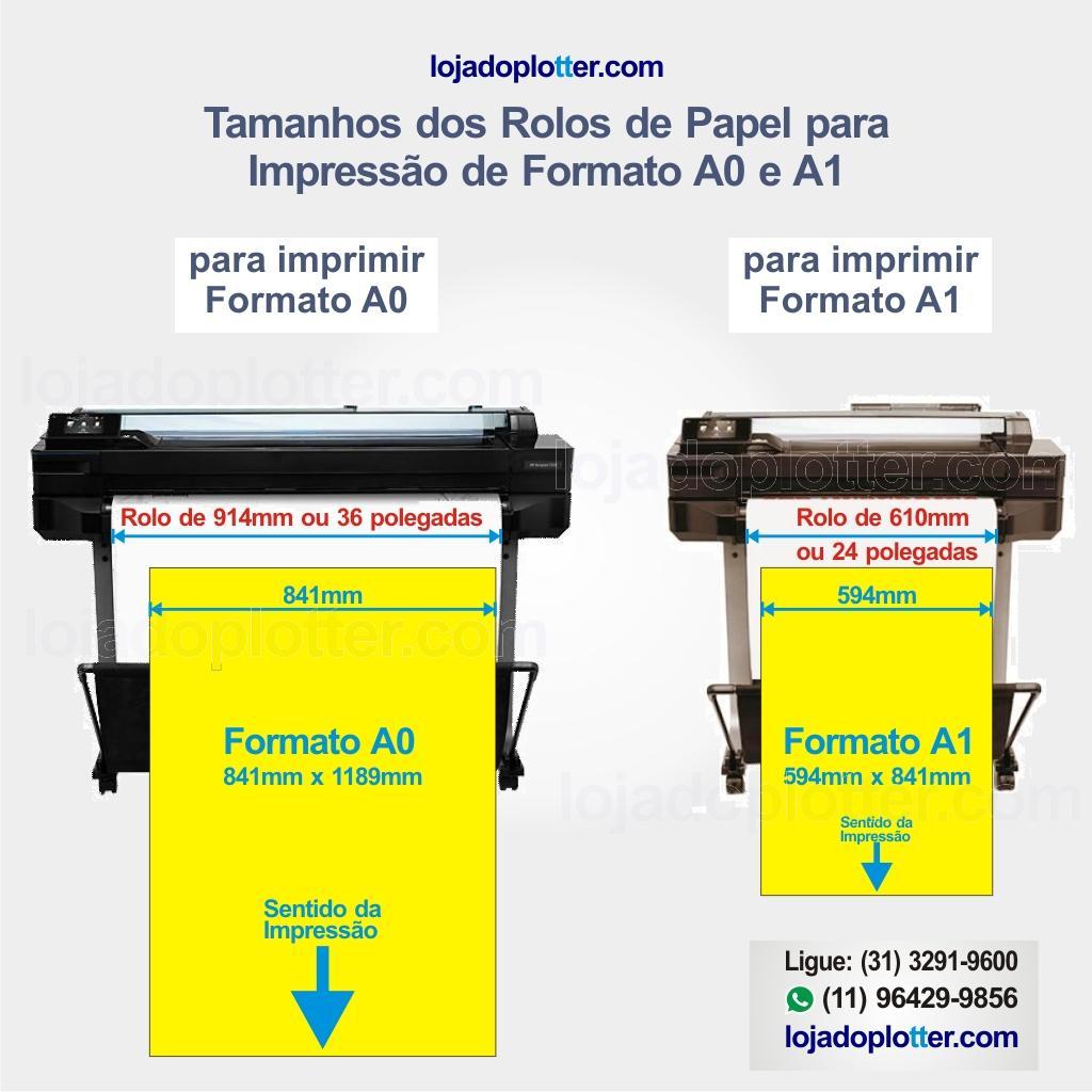 Impressão de Formatos A0 e A1 em Plotter