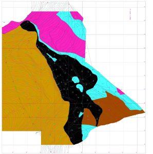 Digitalizacao e Vetorização de mapa geológico, perfil e 3D